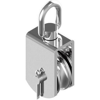 Block mit Edelstahlrolle,Sinterbronze-Buchse - A2 Typ C Rolle H=100 mm