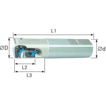WSP Bohr-/Senkfräser 90 Grad D=25x25x150 mm