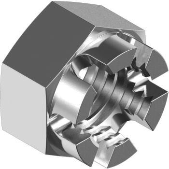Kronenmuttern DIN 935 - Edelstahl A2 M12