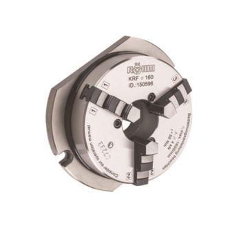 Dreibackenkranzspannfutter KRF 110 mm mit Grundpl