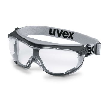 Schutzbrille carbonvision blau/grau mit Kopfband