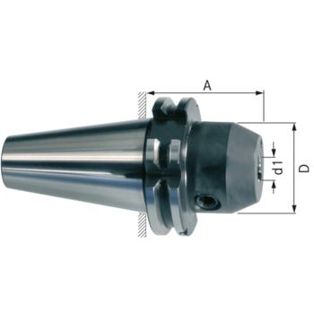 Flächenspannfutter SK 40 6 mm mit seitlichem Kühl