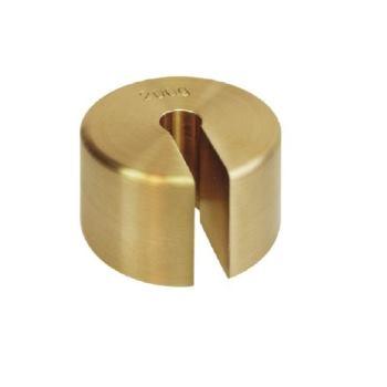 Schlitzgewicht 100 g / Messing feingedreht 347-475