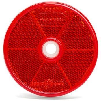 Rückstrahler rund mit Bohrung Rot D62 mm 50 Stück