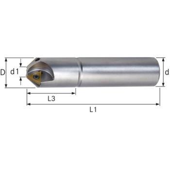 Wendeschneidplatten Fasenfräser 45 Grad Durchmesse r 32,5x100 mm