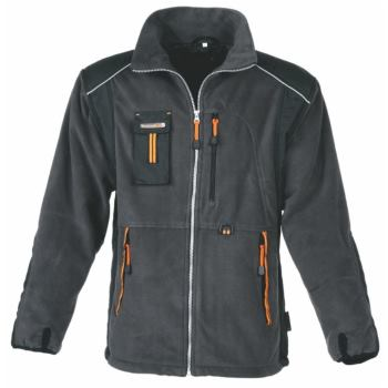 Fleecejacke grau/orange Gr. XXL