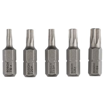 Schrauberbit-Set Extra-Hart (Torx®), 5-teilig, T10