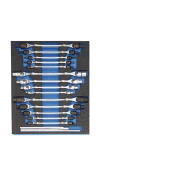 Doppel-Gelenkschlüssel-Satz in 2/4 CT-Modul, 18-tl g