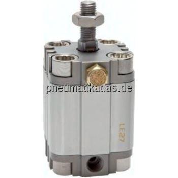 Kompaktzylinder, einfachwir- kend, Kolben Ø 25 mm,Hub 15mm