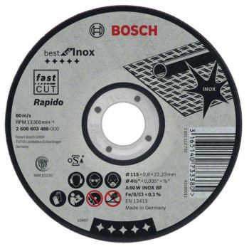 Trennscheibe gerade Best for Inox Rapido A 60 W IN