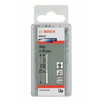 Metallbohrer HSS-R, DIN 338, 1,7 x 20 x 43 mm, 10e