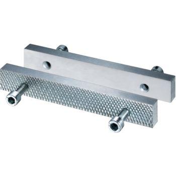Stahlbacken umkehrbar 140 mm geriffelt / gla