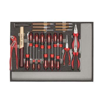 Werkzeugsatz Schraubendreher, Zangen, Hammer, Meiß el