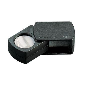 23mm Einschlaglupe Kunststoff schwarz