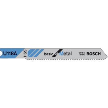 Stichsägeblatt U 118 A, Basic for Metal, 3er-Pack