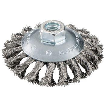 Rundbürste 100 mm M 14, Stahldraht gezopft, gekröp