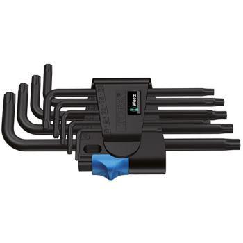 967 L/9 TORX® HF Winkelschlüsselsatz mit Haltefunk tion, BlackLaser