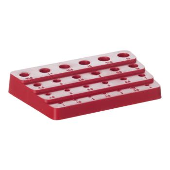 Kunststoff-Aufsteckblock leer 1,0 - 13,0 mm um 0,5