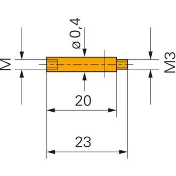 Adapter 20 mm Gewinde M3 zu M2,5