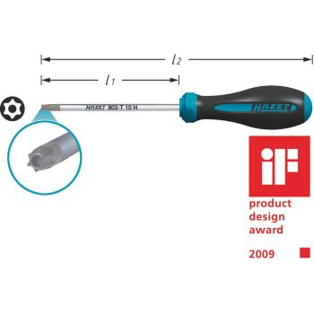 HEXAnamic® TORX® Schraubendreher 802-T10H · T10H ·Tamper Resistant TORX® Profil