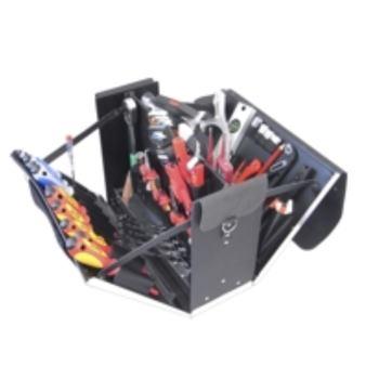 Ledertasche 12-L1, komplett, mit Elektro-Service-W erkzeugpaket 12, 45-teilig