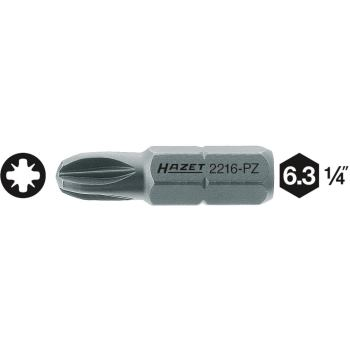 Schraubendreher-Einsatz (Bit) 2216-PZ2 · Sechskantmassiv 6,3 (1/4 Zoll) · Pozidriv PZ · l: 25 mm