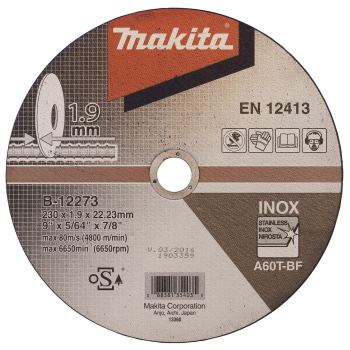 Trennscheibe Ø 230x1,9mm ( 10 Stück ) INOx