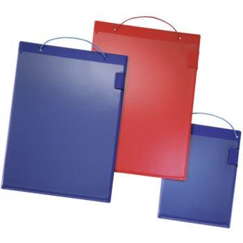 Auftragstasche DIN A4 blau mit Klettverschluss DIN