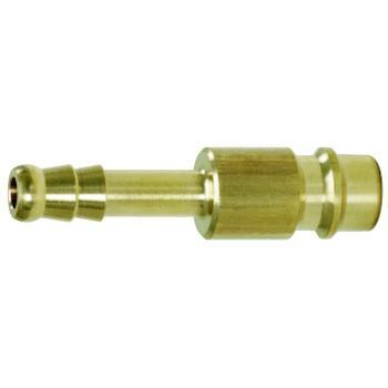 Messing-Stecknippel mit Schlauchtülle, 10x10mm 515