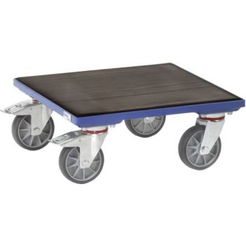 Transportroller für Kisten Plattform aus Holz mit