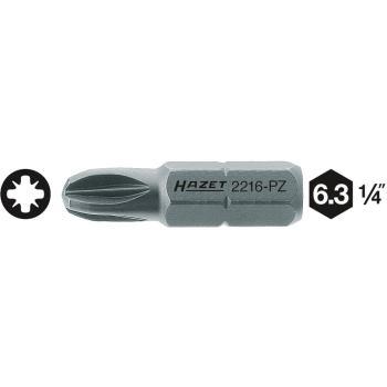 Schraubendreher-Einsatz (Bit) 2216-PZ1 · Sechskantmassiv 6,3 (1/4 Zoll) · Pozidriv PZ · l: 25 mm