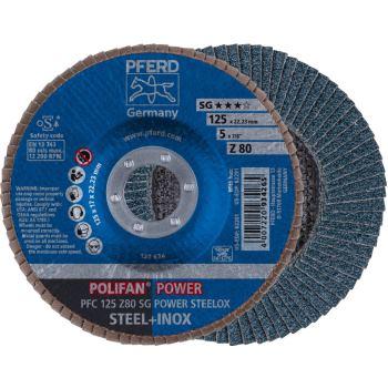 POLIFAN®-Fächerscheibe PFC 125 Z 80 SG/22,23
