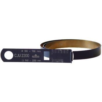 Stahlbandmaß niro schwarz für Umfang 60- 950 mm