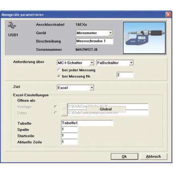 Messdatenauswertungs-Software USB-Com Professional