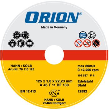 Trennscheibe für Edelstahl 125x1,5x22 mm INOX-Sch