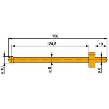 Messeinsatz mit Hartmetall-Kugel 10 mm Durchm