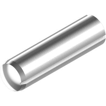 Zylinderkerbstifte DIN 1473/ISO 8740-Edelstahl A1 m. Fase 6x 10