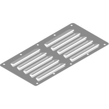Kiemenblech Typ C, 230 X 115 X 0,6 mm, A2