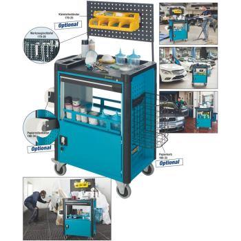 Werkzeugwagen Assistent f. Oberflächen-Bearbeitung