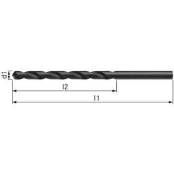 Spiralbohrer lang Typ N HSS DIN 340 10xD 6,5 mm mit Zylinderschaft HA