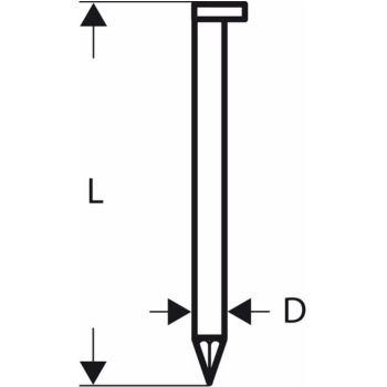 D-Kopf Streifennagel SN34DK 50, 2,8 mm, 50 mm, bla