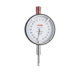 Messuhr 0,01mm / 1,6mm / 58mm / Stoßschutz / ISO 463 - Werksnorm 10019