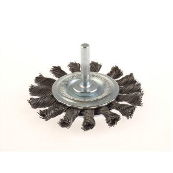 Zopf-Rundbürsten mit 6 mm Schaft Drm 75 x 9 m m 18 Z ohne Blume rechts gezopft Stahldraht ST