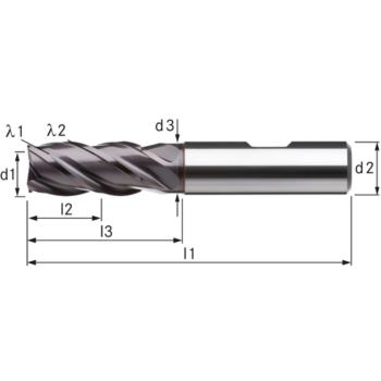 Vollhartmetall-HPC-Schaftfräser, lang Durchmesser