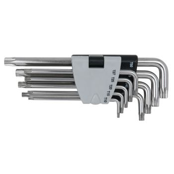 EDELSTAHL TX-Winkelstiftschlüssel mit Bohrung, lan