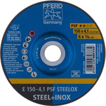Schruppscheibe E 150-4,1 A 30 M PSF-INOX-PIPE/22,23