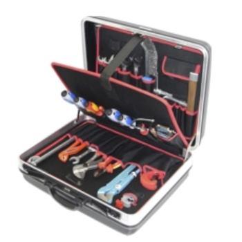 Hartschalenkoffer 4-H2, komplett, mit Sanitär-Heiz ung-Werkzeugpaket 4, 28-teilig