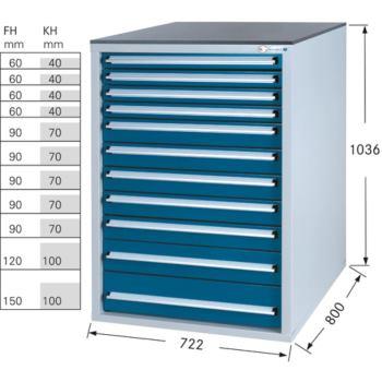 Werkzeugschrank System 800 S, Modell 32/11 GS -