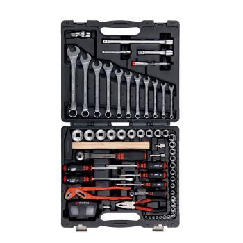 Werkzeugkoffer komplett mit 91 Werkzeugen - WZG-SORT-GEM-91TLG