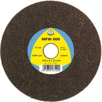 Hochleistungs-Vliesscheibe, MFW 600,Abm.: 150x6x22 Grad: medium, Farbe: Grau